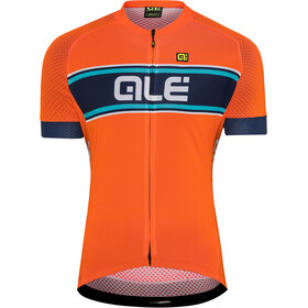 Alé Cycling Solid Vetta Shortsleeve Jersey Herren flou orange-blue-turquoise